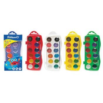 Acuarele junior 12 culori + pensula