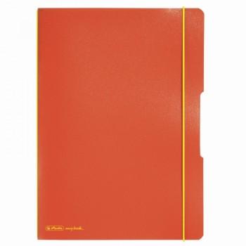 Caiet my.Book flex a4 2x40f 70gr dictando+patratele portocaliu cu logo galben