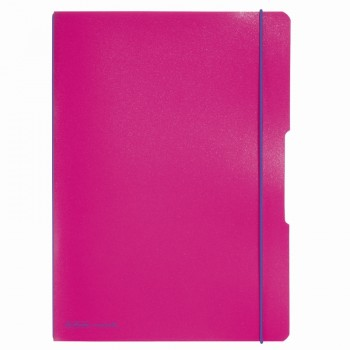 Caiet my.Book flex a4 2x40f 70gr dictando+patratele roz inchis cu logo violet