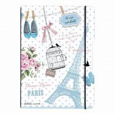 Caiet my.Book flex a4 2x40f 70gr dictando+patratele vintage paris cu logo negru
