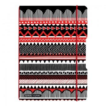 Caiet my.Book flex a4 2x40f 80gr dictando+patratele, coperta pp, black wow ethno