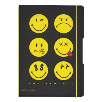 Caiet my.Book flex a4 2x40f 80gr dictando+patratele smiley world black
