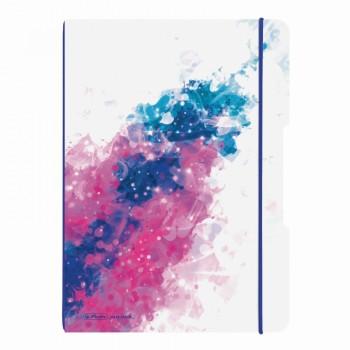 Caiet my.Book flex a4 2x40f 80gr dictando+patratele splash pink