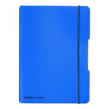 Caiet my.Book flex a4 40f 70gr dictando albastru dechis transparent cu logo negru