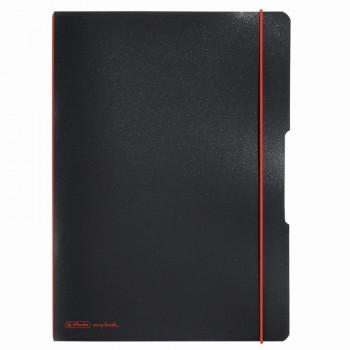 Caiet my.Book flex a4 40f 70gr dictando negru cu logo rosu