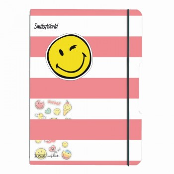 Caiet my.Book flex a4 pp 2x40 f dictando+patratele similey world girly