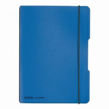 Caiet my.Book flex a5 40f 70gr dictando albastru deschis transparent cu logo negru