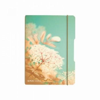 Caiet my.Book flex a5 40f 70gr patratele vintage flowers cu elastic gri