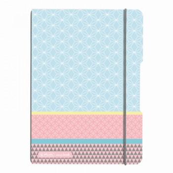 Caiet my.Book flex a5 40f patratele coperta pp graphic pastels blue
