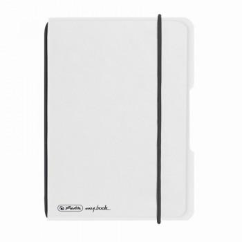 Caiet my.Book flex a6 40f 70gr patratele transparent cu logo negru