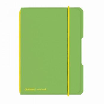 Caiet my.Book flex a6 40f 70gr patratele verde deschis transparent cu logo galben