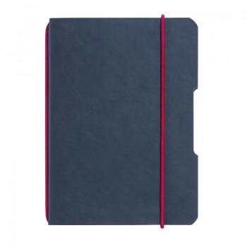 Caiet my.Book flex a6 40 file patratele coperta din imitatie de piele elastic negru