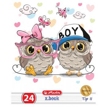 Caiet tip ii a5 24 file cute animals premium