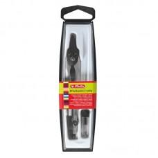 Compas plastic/metalic negru herlitz