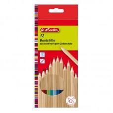 Creioane color lemn cedru set 12