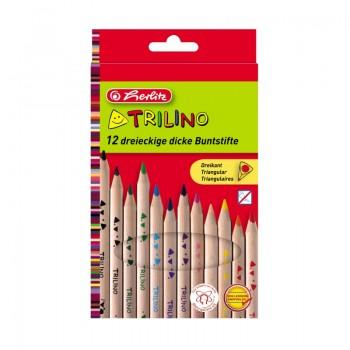Creioane color triunghiular trilino 1/1 set 12