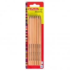 Creion grafit mina hb natur fara radiera set12