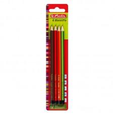 Creion grafit mina h, hb, b, 2b, set 4