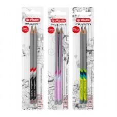 Creion my.Pen grafit hb diverse combinatii de culori set2