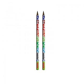 Creion triunghiular hb 2 buc smileyworld rainbow