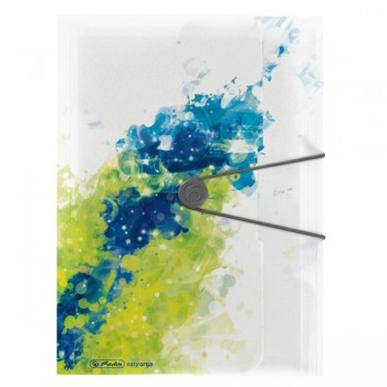 Dosar mapa a4 pp eogt extensibila inchidere buton cu elastic, lemon splash