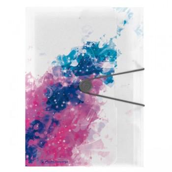 Dosar mapa a4 pp eogt extensibila inchidere buton cu elastic, splash pink