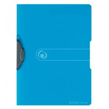 Dosar pp cu clips eotg 30 coli, albastru transparent
