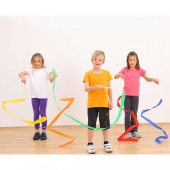 Panglici gimnastica ritmica 3 m -set 5 buc