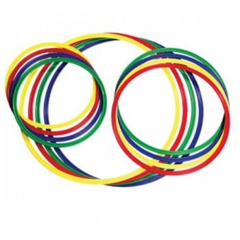 Cercuri pentru gimnastica 65 cm diametru – set 4 buc