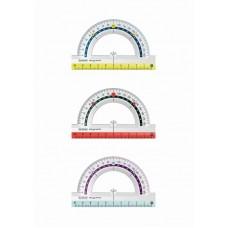 Raportor plastic 10cm my.Pen 3 combinatii de culori