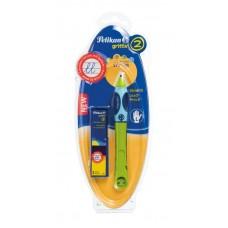 Roller griffix pentru stangaci, culoare verde, 2 rezerve, blister