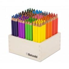Creioane colorate in cutie de lemn 144 buc