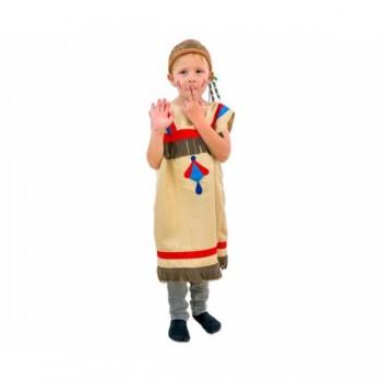 Costum indian rosu-albastru