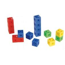 Cuburi Unifix  interconectabile ,100 buc diverse culori, 2 cm