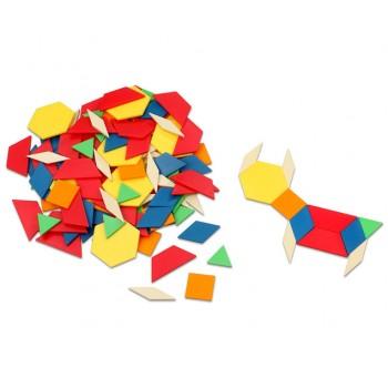 Forme geometrice din plastic, 250 piese