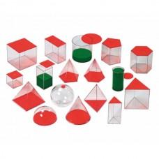 Corpuri geometrice – 17 buc, 10 cm