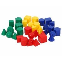 Corpuri geometrice mici set 40 buc