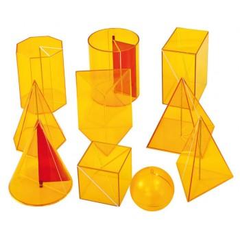 Corpuri geometrice cu secțiuni 10 buc.