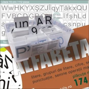 Alfabetar școlar magnetic - 174 piese