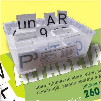 Alfabetar școlar magnetic - 260 piese