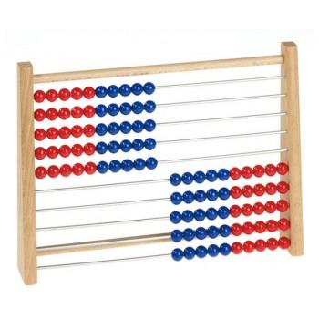 Abac individual rosu-albastru
