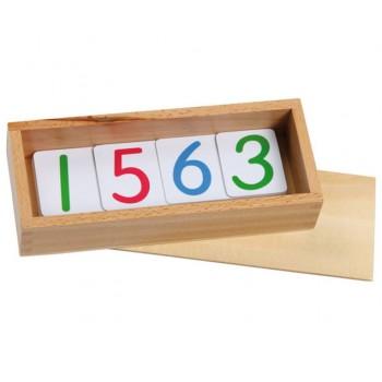 Carduri numerice laminate în cutie din lemn